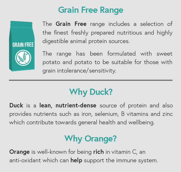 Grain Free - Duck with Sweet Potato and Orange for Adult Dogs