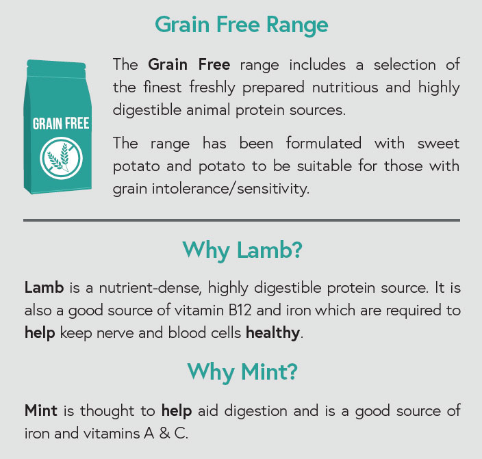 Grain Free - Lamb with Sweet Potato and Mint for Adult Dogs